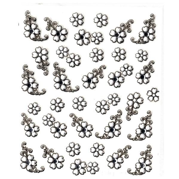 Nail Sticker 3d Hochzeitsmotiv Blumen 33 Rabatt