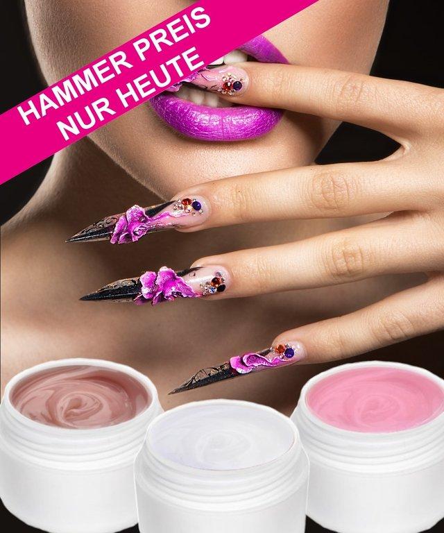 Set Acrylgelklar Milky Pink Softweißpinchbarstabilmonomerfrei 90ml