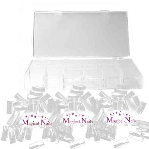 1050K-100 100 Tips Style 11, flexibel, Crystal mit Box