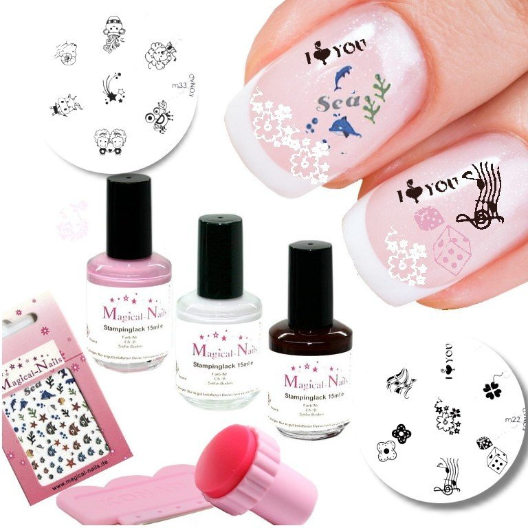 nageldesign nailart stamping set weihnachsgeschenk auf rechnung. Black Bedroom Furniture Sets. Home Design Ideas