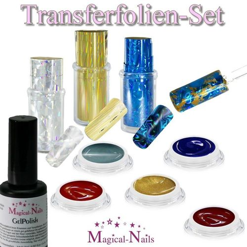 Transferfolien-Set mit 5 Color-Gele, 3 Folien, Gloss