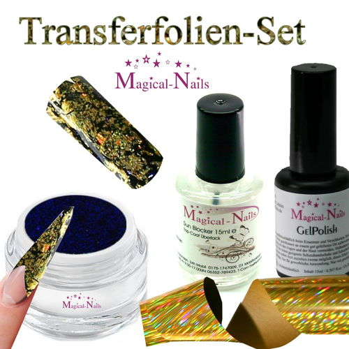 Set-TFF-1, Transferfolien-Set, Gratis...Folie Golden Stripes für 10 Anwendungen