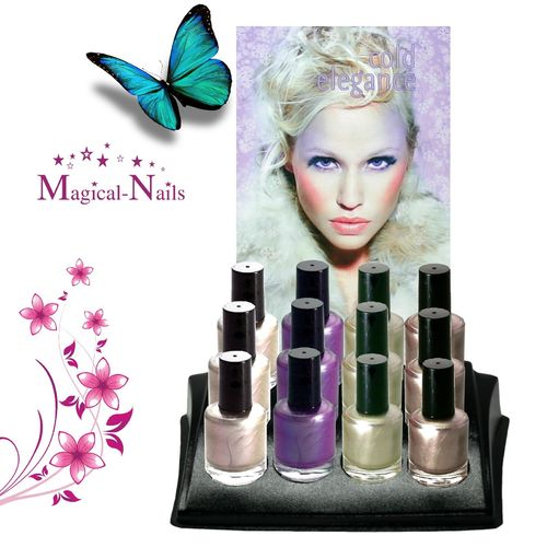 Set,12 Nagellacke,Display,Steckkarte,Set-L2