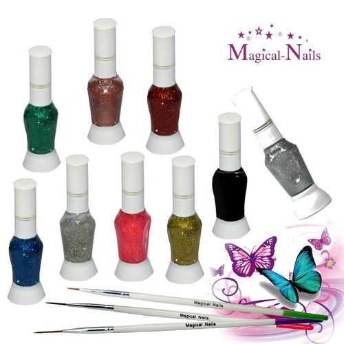 Set, Nail-Art Pen, Nail Art Pinsel, 12 teilig