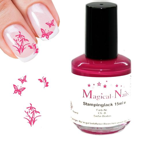 15ml, Stamping Lack, Dunkelpink