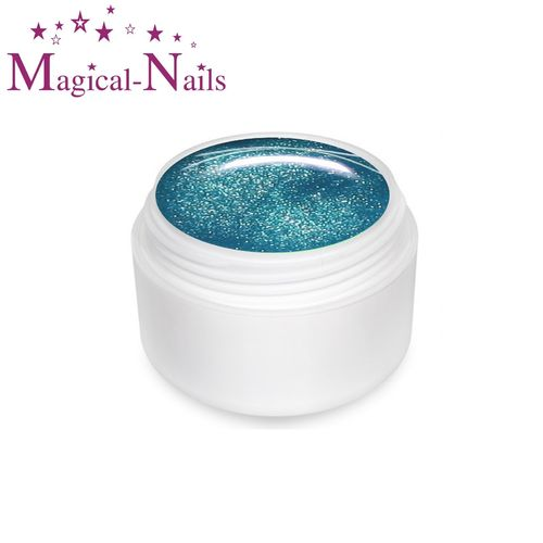 650, UV+LED Farb-Gel, Blue-Glitter, Mermaids Effekt, ✔ Cremig✔ Intensiv✔ Premium Gel
