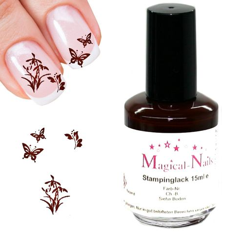 15ml, Stamping Lack, Brodeaux