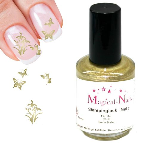 5ml, Stamping Lack, Gold-Pearl