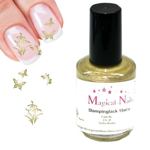 15ml, Stamping Lack, Gold-Pearl