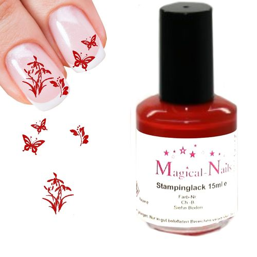 15ml, Stamping Lack, Rot