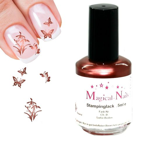 5ml, Stamping Lack, Kupfer-Pearl