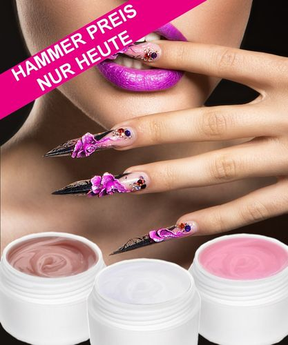 90ml Acryl Gel, Klar-Pink-Weiß, monomerfrei - Magical-Nails