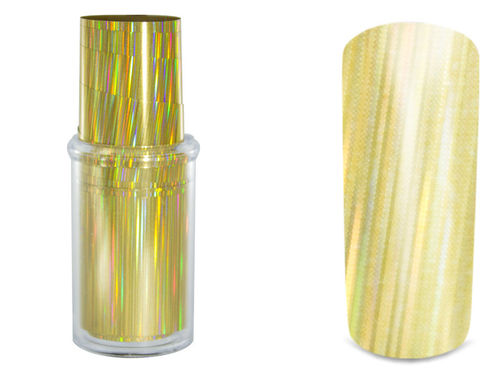 "Transfer Nagelfolien ""Golden Stripes"" by Anja Beck, Designer Nail-Art-Folie, ca. 15 cm"