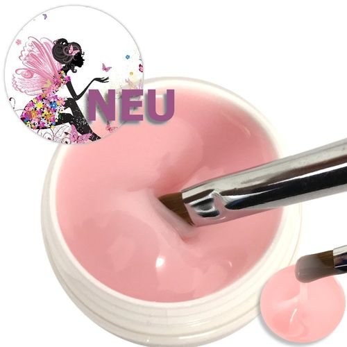 30ml intensives milky Pink Make up + Aufbau Gel mittelflüssig, UV+LED härtend ♥♥♥ Top Produkt
