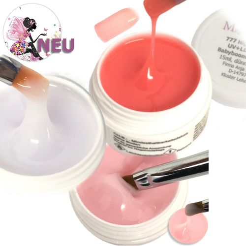 Babyboomer Nude Set milky white, milky pink, pink high gloss 3x15ml