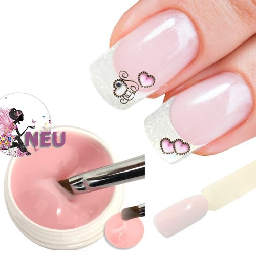 5ml intensives milky Pink UV+LED Make-up+Aufbau Gel medium