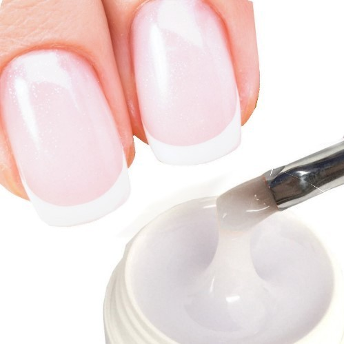 15ml UV+LED Hochglanz-Gel milky-white-Porzellan-Gloss ♥♥♥