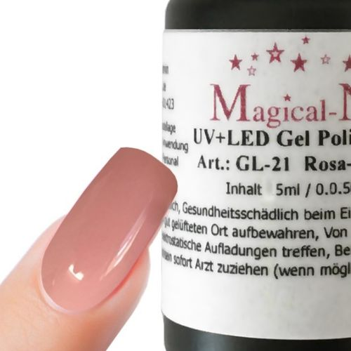 5ml Gel Nagellack, cremig deckend Rosa-Nude - Magical-Nails