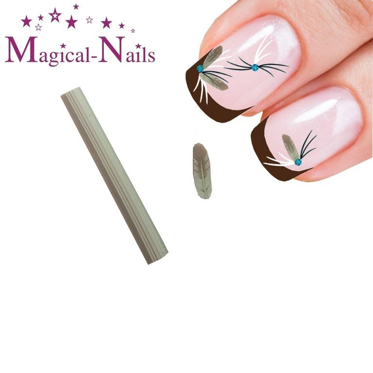 RNAC-25-122_Fimo_Federn_Braun-Mint_www.magical-nails.de_anja_beck
