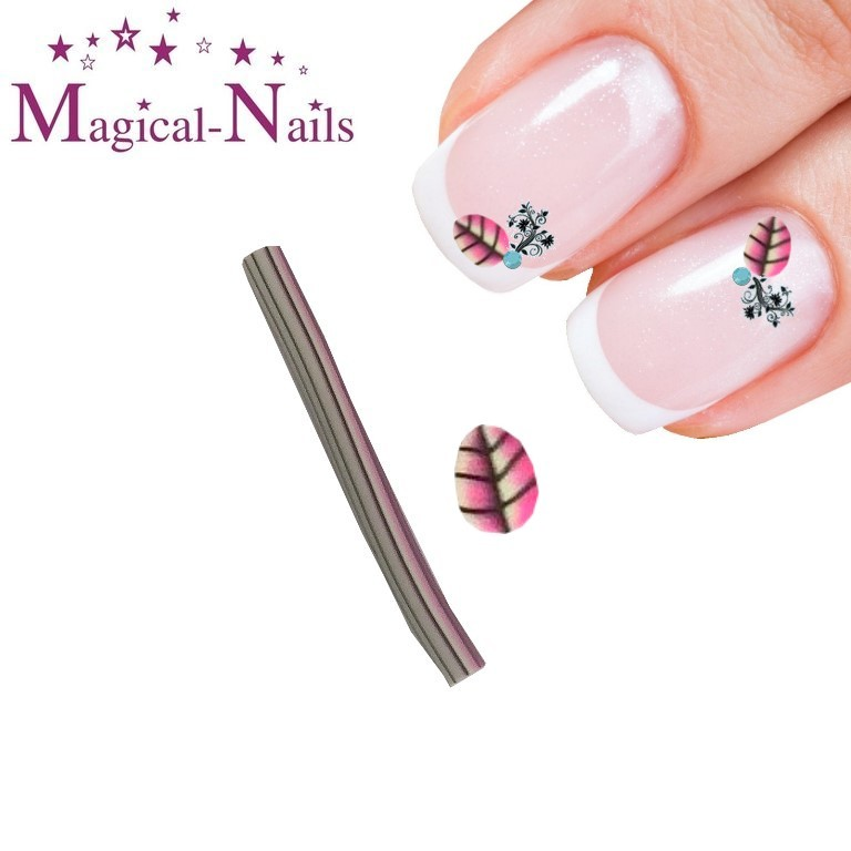 RNAC-25-133_Fimo_Blatt_pink_www.magical-nails.de_anja_beck